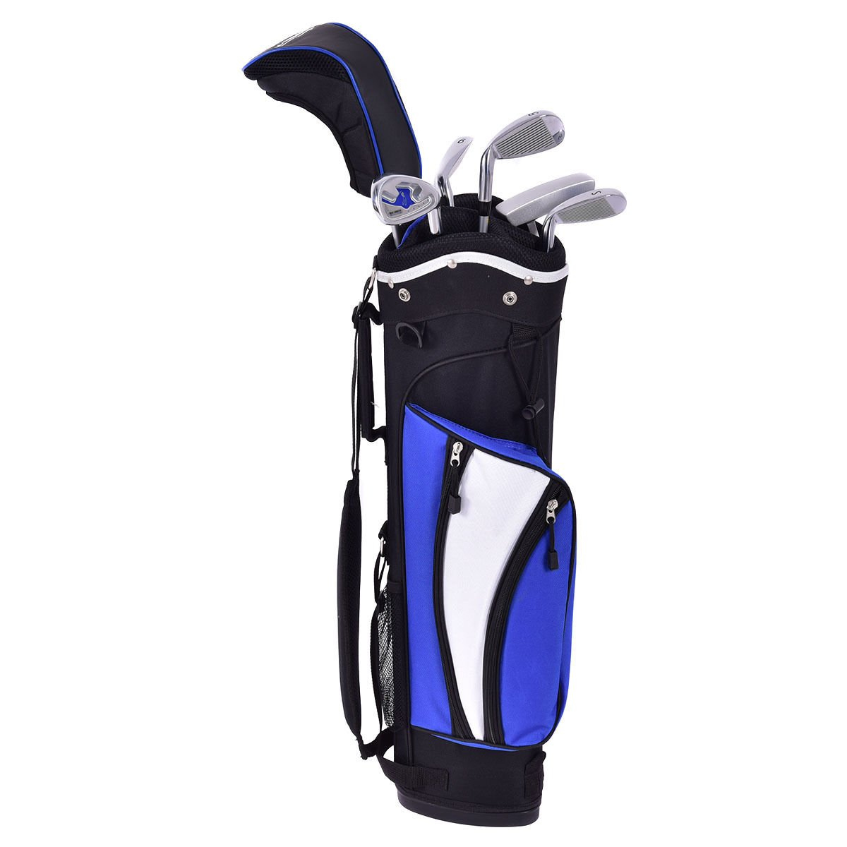 TANGKULA Junior Golf Club Set with Stand Bag 6 Piece Wood Iron Putter for Ages 8-10