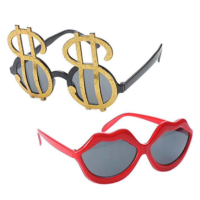 Amazon.com: Prettyia - Juego de 2 gafas de sol con forma de ...