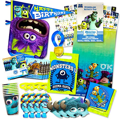 Monsters Inc Party Supplies Ultimate Set -- Plates, Cups, Napkins, Table Cover and Stickers!