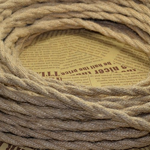 5M Vintage Rope Wire Twisted Cable Retro Braided for DIY Pendant Lamp (Random: NO.)