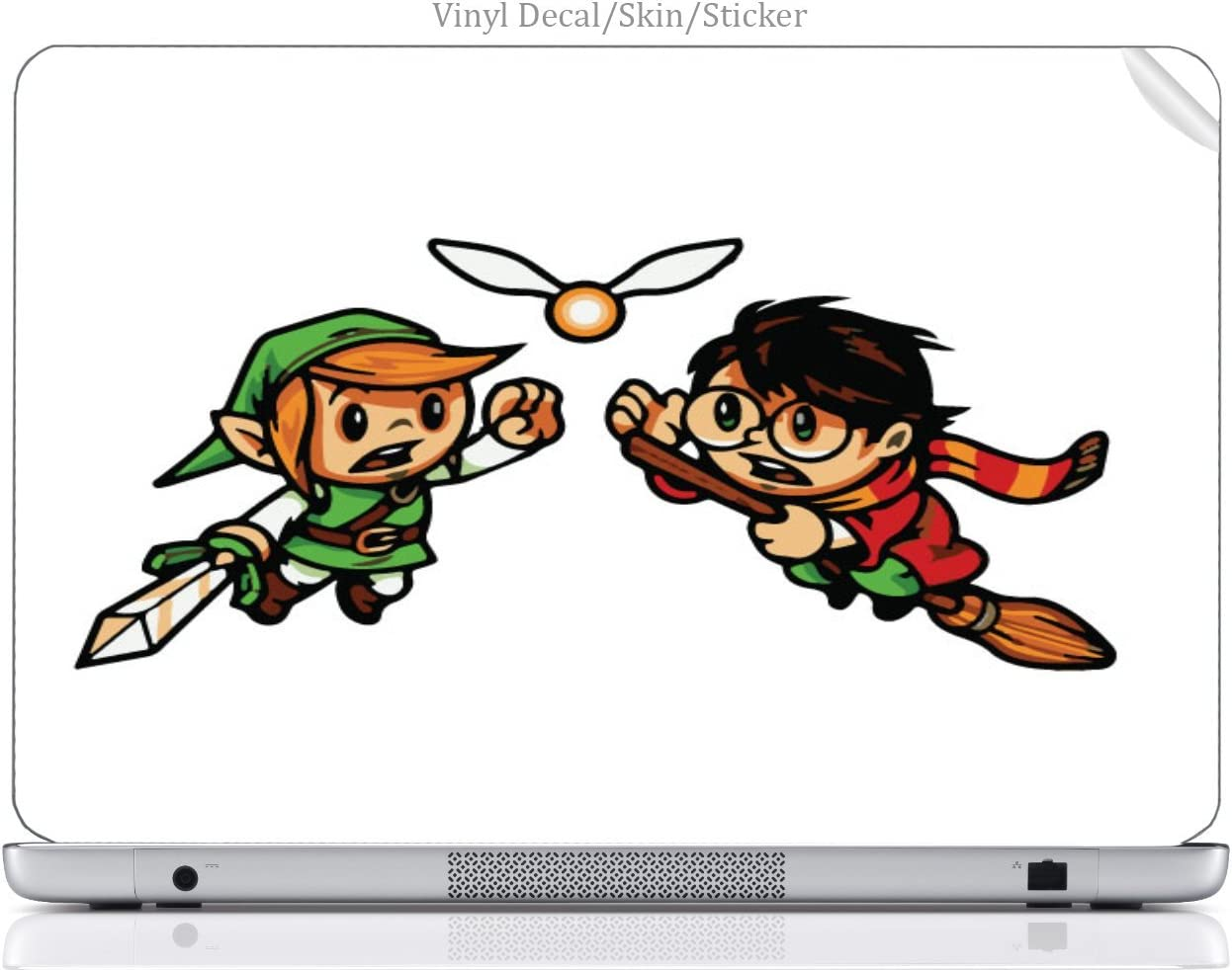 Laptop VINYL DECAL Sticker Skin Print Cute Harry and Link Art fits ThinkPad R52