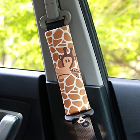Lot de 2 protège ceinture pour enfant Doux épaule pour ceinture de sécurité  Épaulière Bandoulière Coussin fb38217d02f