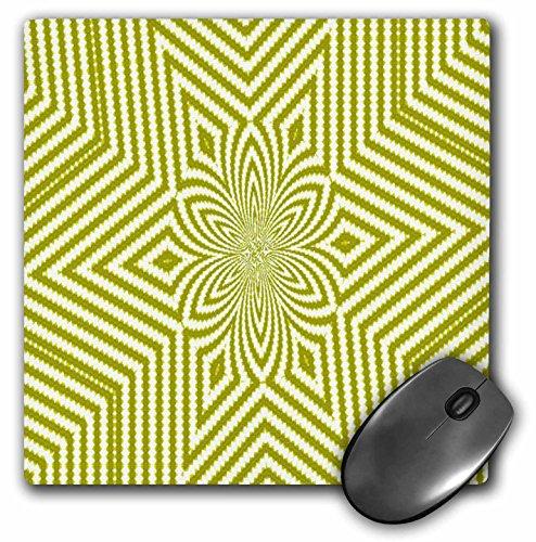 Pattern Textile Green Lime - 3dRose LLC 8 x 8 x 0.25 Inches Mouse Pad, Textile Pattern Lime Green and White Large Star (mp_18473_1)