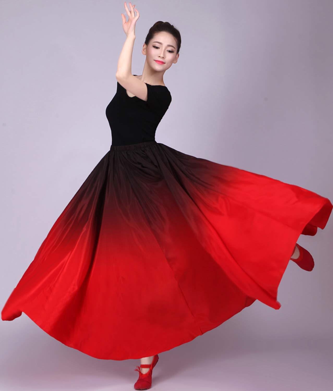 LOLANTA Costume da Ballo per Gonna da Ballo Spagnolo da Donna Vestito da Ballo per spettacoli di Danza Flamenco in Spagna