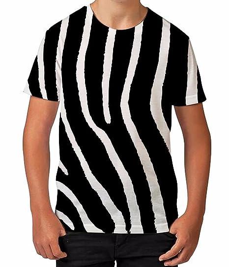 7b871539e67a Amazon.com  Bang Tidy Clothing Kids Graphic T Shirt Boys Top Zebra Print  Youth Tee Shirt  Clothing