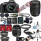 Nikon D5200 DSLR Camera Bundle with Lens, Filter & Accessories (16 Items) - International Version