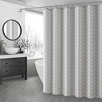 Ufaitheart Waterproof Shower Curtain Geometric 54 Inch By 78 Stall X