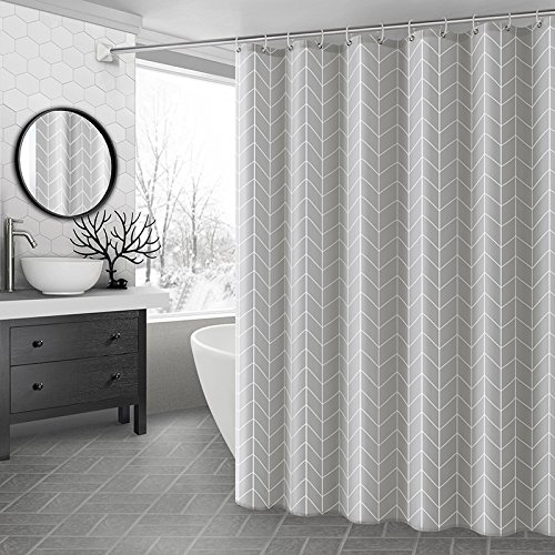 Amazon Ufaitheart 54 By 72 Inch Geometric Shower Curtain Stall Size Curtains Fabric Waterproof Heavy Duty Anti Mildew And Antibacterial