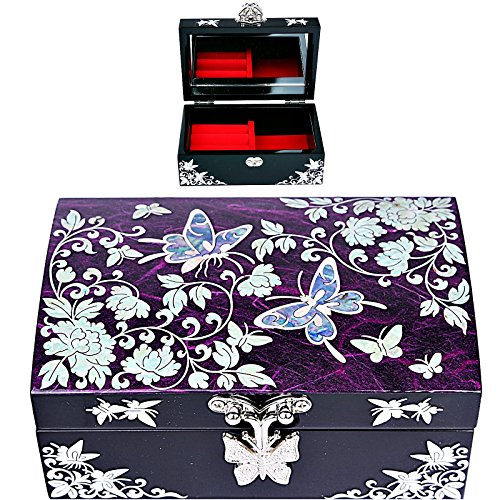 Jewelry Boxes Organizer Box Gift Box Mother Of Pearl Korea HJL1001 (Butterfly Mother Of Pearl)