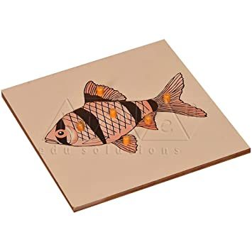 Kidken Montessori Fish Puzzle for Kids Early Educational Toy Gift