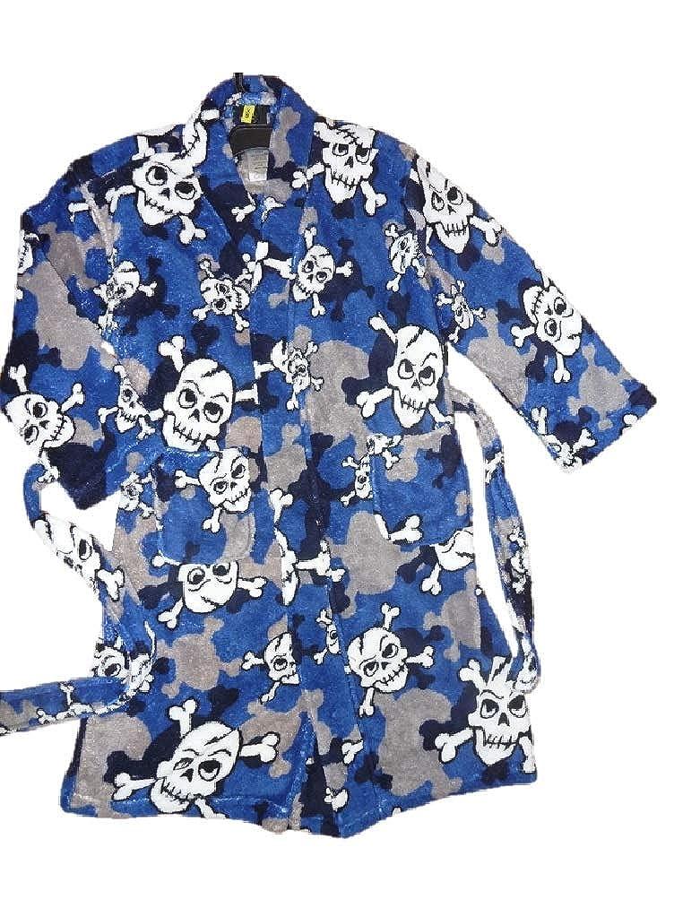 Joe Boxer Boys Skulls /& Skeletons Bathrobe Robe XS 4//5