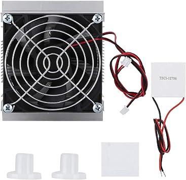 Ventilador de refrigeración PC, DIY Cooling Termoelectric Cooler Kit 2 x bloque de aluminio + 2 x ventiladores + 1 x paquete de tornillos + 1 x soporte ventilador + 1 x almohadilla de algodón + 1 x TEC1-12706: Amazon.es: Electrónica