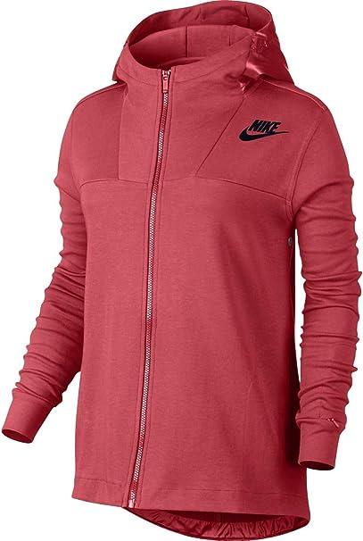 Nike AV15 Woven Hoodie schwarz weiß rot im WeAre Shop