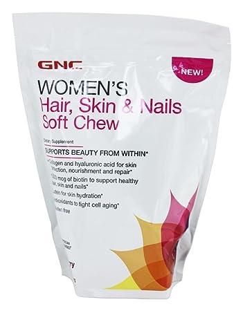 GNC Women\'s Hair, Skin & Nails MultiVitamin Chew Acai Berry 60 Vitamin Chews