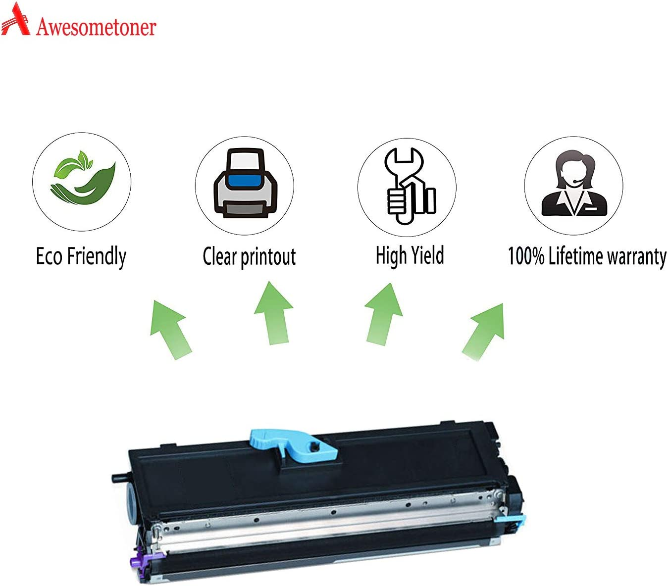 1400W Black, 5-Pack Awesometoner Remanufactured Toner Cartridge Replacement for Konica Minolta 9J04203 use with PagePro 1400