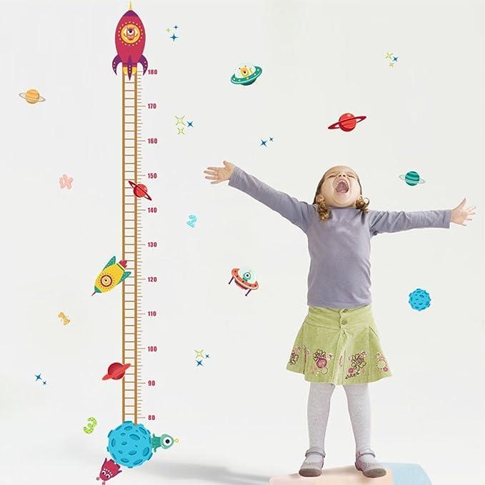 Beschriften Wandtattoo Kinderzimmer Messlatte Unterwasserwelt Zum Kleben Baby Wanddekoration