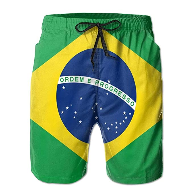 Flag Brazil Trunk Shorts Quick Lightweight Men's Dry Swim Beach gbyf76