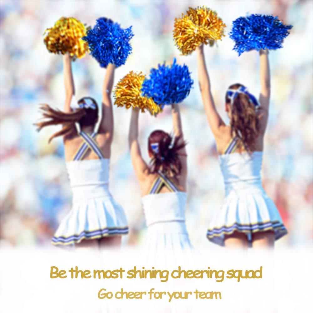 MERYSAN 12 St/ücke Cheerleader Pompons Cheerleading 1 Dutzend Hand Blumen Cheerleading Pom Poms f/ür Tanzparty Schule Sport Wettbewerb