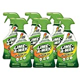 Lime-A-Way Bathroom Cleaner, 132 fl oz (6 Bottles x 22 oz), Removes Lime Calcium Rust