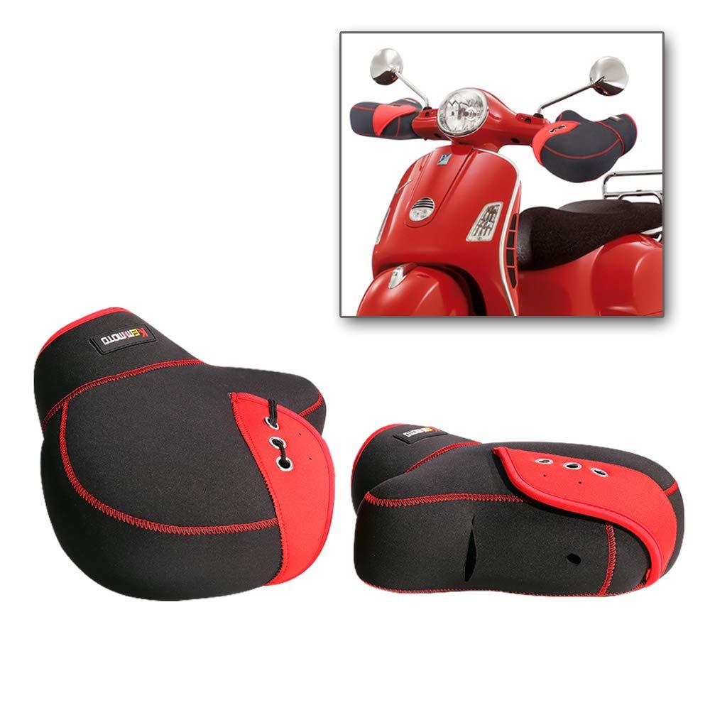Noir Gants Imperm/éable et Coupe-vent Install/é sur Poign/ée Gants Hiver pour Guidon de Moto Manchons Scooter Moto