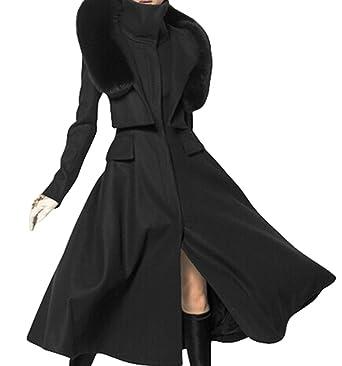 PLAER Damen Mode Kaschmir Mantel Lange Trench Mantel wollen Mantel mit  Kapuze Mantel Jacke (EU c33ea14835