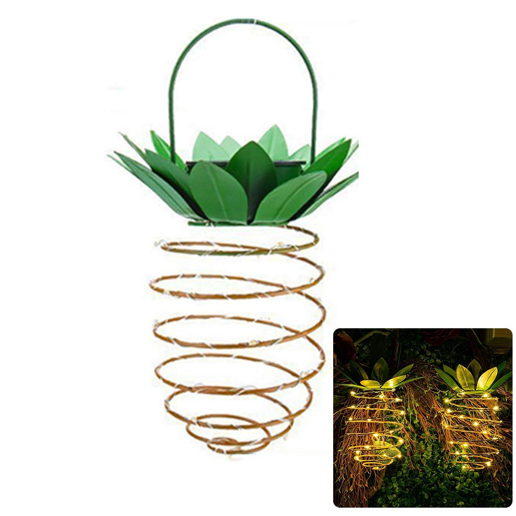 Justdolife Hanging Light Pineapple Shape LED Light Hanging Lamp for Garden