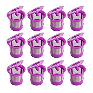 12 Pack Compatible Keurig Reusable K Cup Coffee Filters for Keurig Family 2.0 and Classic 1.0 Brewers Coffee Makers