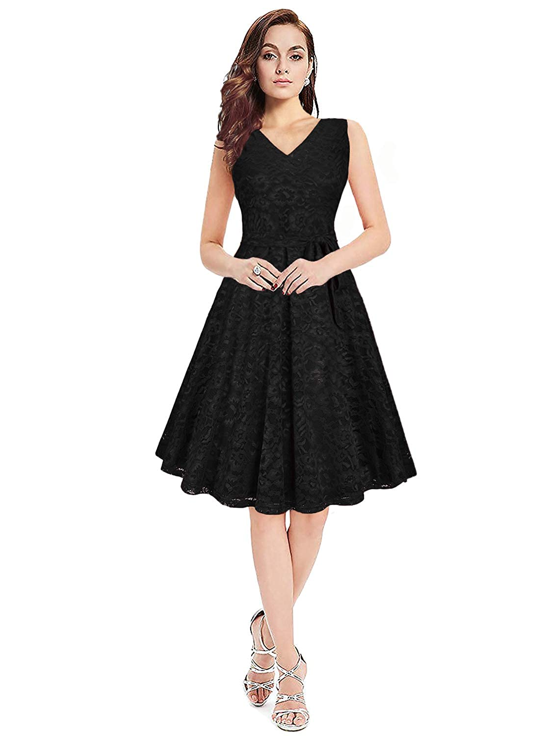 Siddhi Enterprise A-line Midi Dresses For Women Western Wear Skater Dress ( Black)  Amazon.in  Clothing   Accessories 3fbf4e8d2