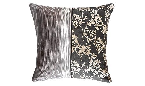 Amazon Com Ebony Jasmine Bark Half Throw Handmade Pillow Covers Handmade
