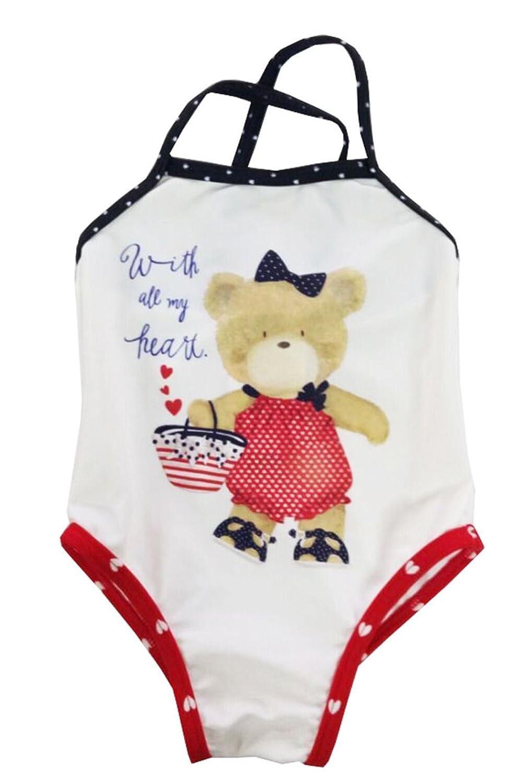 Infant Baby Girls Swimwear One Piece Bear