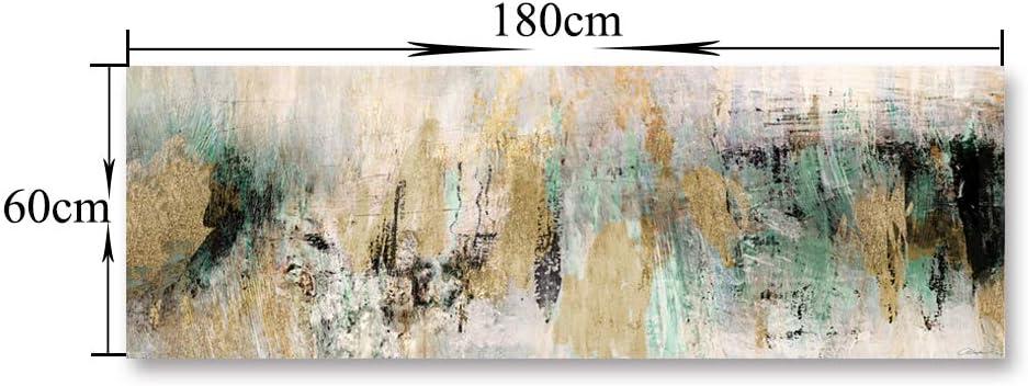 Fajerminart Cuadro En Lienzo - Verde Dorado Cuadros Abstractos Impresiones Sobre Lienzo, Lienzos Decorativos Adecuado Para Cuadros Dormitorios, ...