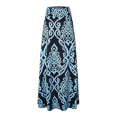FELZ Falda de Mujer Falda Larga Mujer Faldas largas para Mujer ...