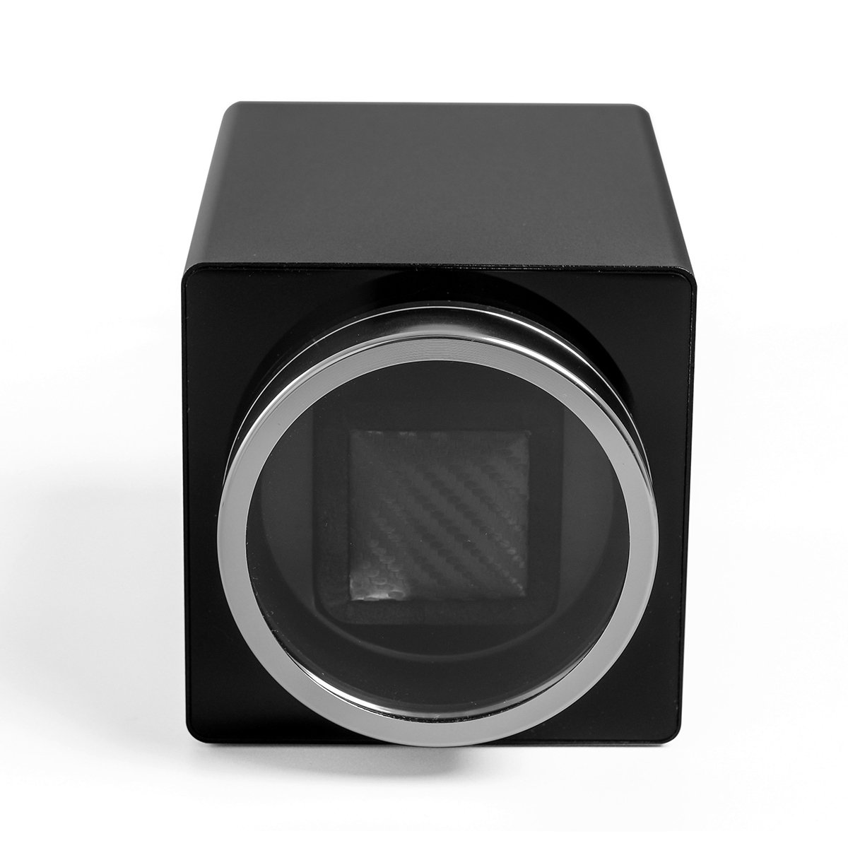 CRITIRON Automatic Single Watch Winder Case Rotating Watches Display Storage Box Black