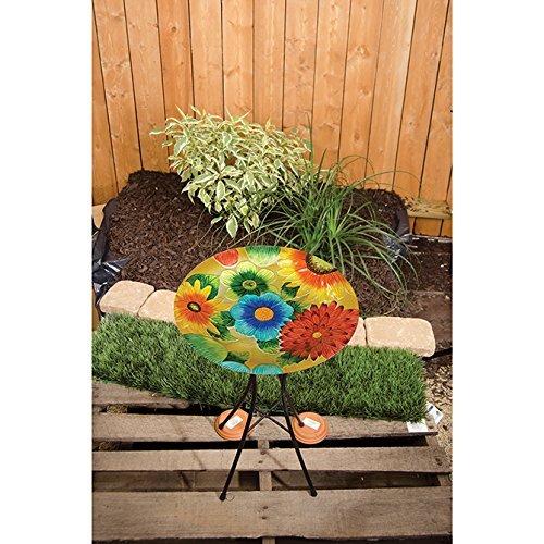 Carson, Bright Floral 13'' Birdbath by Carson