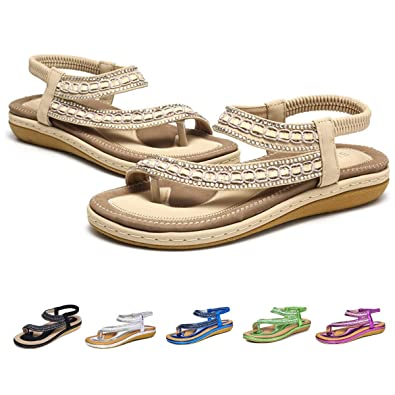 7c32c164b gracosy Summer Flat Sandals for Women