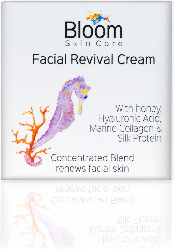 Bloom Skin Care Facial Revival Cream 1.69oz – Hyaluronic Acid Tightening Face Cream for Women and Men – Paraben and Cruelty Free – Natural Moisturizer for firming skin