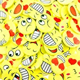 Wankko 72PCS Mini Smiley Smile Face Button Pins,1.2 Inch Size