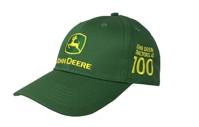 7a6a2994667 John Deere Mens 100 Year Anniversary Cap - Green  Amazon.com.au  Fashion