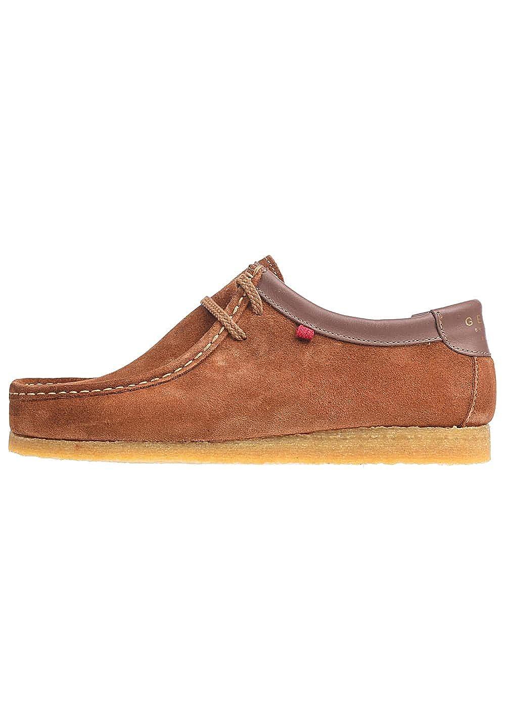 Djinns - Schuh - - - Genesiis Low Suede - Cognac Caramel 315057