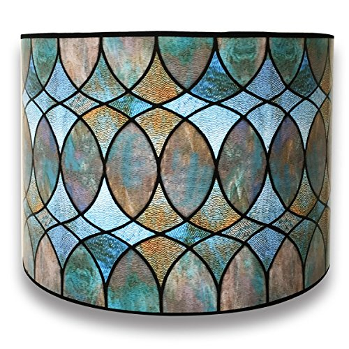 Royal Designs Modern Trendy Decorative Handmade Lamp Shade - Made in USA - Cool Hues Water Color Design - 10 x 10 x 8 ()