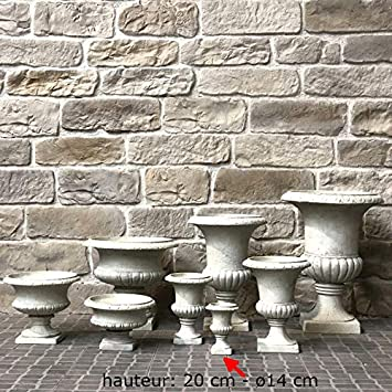 L\'ORIGINALE DECO Vase Pot Vasque Jardinière Médicis de Jardin Blanc ...