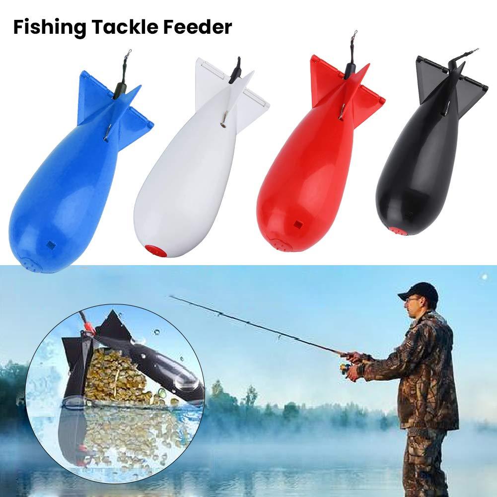 PoeHXtyy 2PCS Large Carp Fishing Spod Bomb Bait Rocket Float Fishing Tackle Fishing Feeder Bait Holder