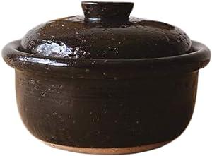Japanese Donabe Kago Rice Cooking Pot, 2 Go, 1200cc, Black