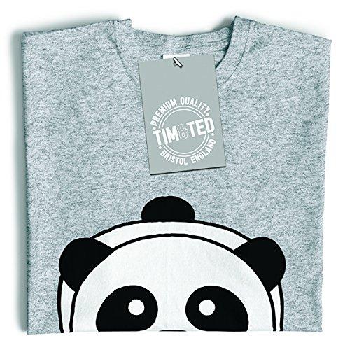 Tim and Ted Panda caratteri giapponesi Kawaii Adorable Baby Panda T-Shirt Da Donna