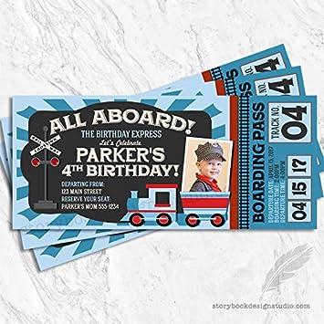 Amazon train ticket birthday party invitations set of 10 train ticket birthday party invitations set of 10 personalized filmwisefo