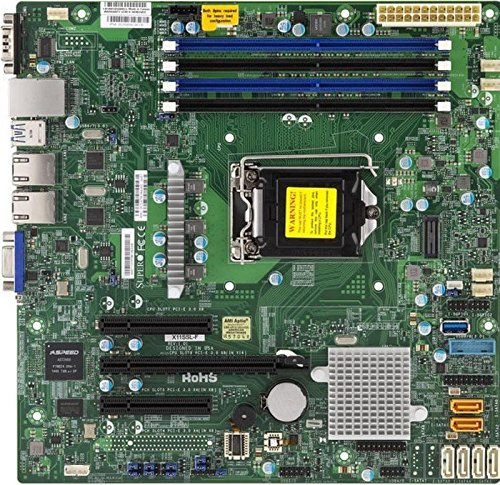 (Supermicro Micro ATX DDR4 LGA 1151 Motherboards X11SSL-F-O)