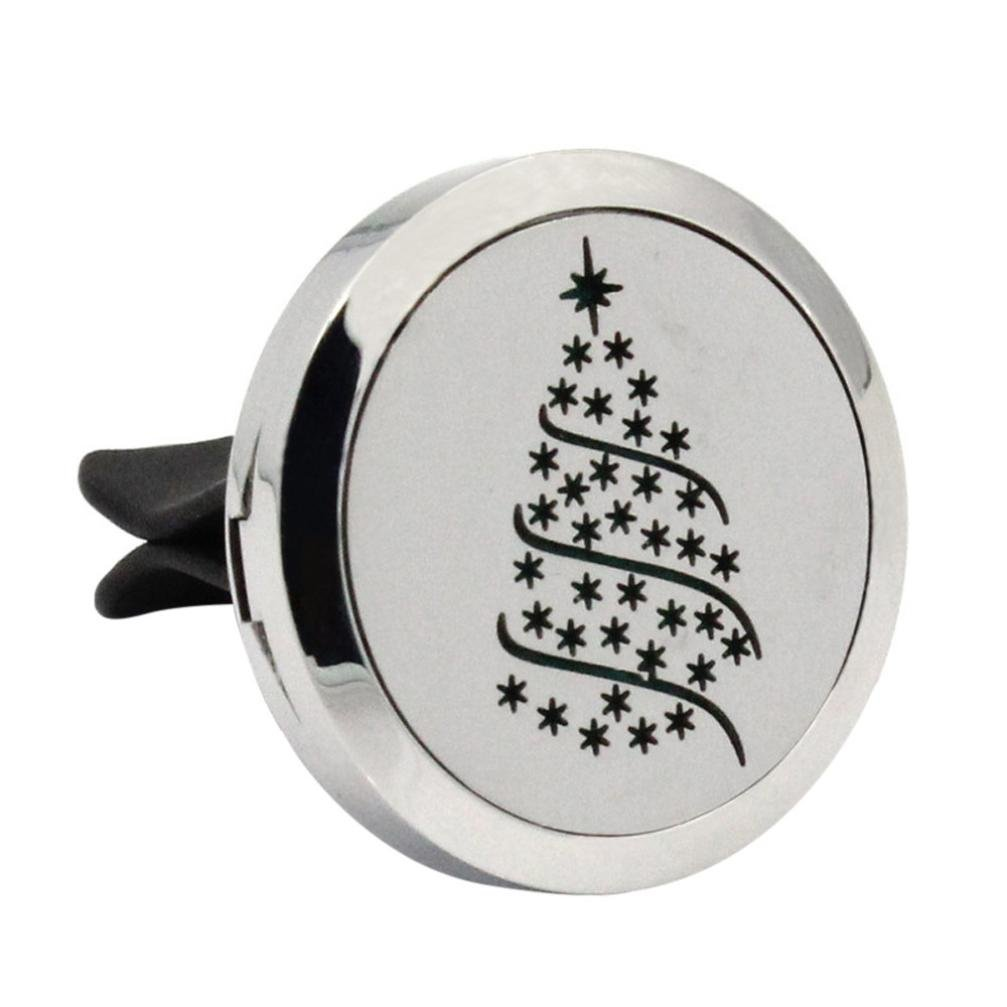 Coohole Stainless Car Air Auto Vent Freshener Essential Oil Diffuser Gift Locket Home Car Decor
