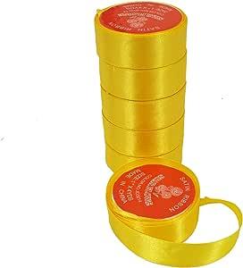 طقم 6 لفات شريط تغليف الهدايا لون أصفر- 3014