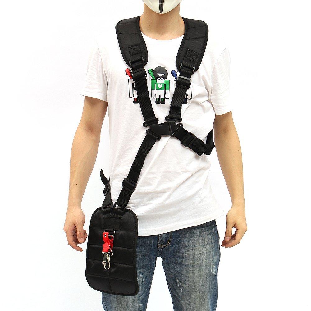 Grass Trimmer Double Shoulder Harness Strap Adjustable Black Nylon Harness Belt For Brush Cutter by Fovolat (Image #3)