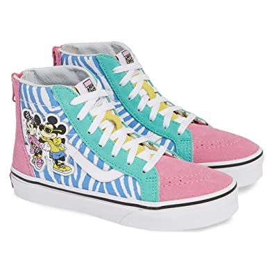 Vans Sk8-Hi Zip (Disney) 80 s Mickey True White Size 1 Little b63d08948